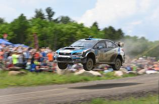 David Higgins wowed rally fans on his way to victory at Susquehannock Trail Performance Rally.
