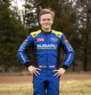 17 year-old Oliver Solberg made his debut for Subaru Motorsports USA at the 2019 Rally in the 100 Acre Wood. Photo credit: Ben Haulenbeek / Subaru Motorsports USA