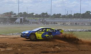 Patrik Sandell crests the ARX Gateway jump on his way to victory in Sunday's final in St. Louis.