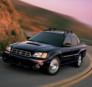 "Subaru Baja Production: 2003-06   Built at SIA in Lafayette, Indiana   The Baja was introduced in 2003 as a multi-purpose vehicle with room for four passengers and a cargo bed for occasional sport and/or utility use   It was based on the Legacy-Outback platform   The first model designed in-house by Subaru of America.    Tagline was ""World's First Multiple Choice Vehicle"""