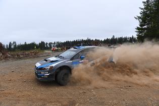 2016 Olympus Rally winners David Higgins and codriver Craig Drew