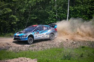 David Higgins and Craig Drew kick up dust and stones in the forests of Pennsylvania to take their second win of the ARA seasonPhoto credit: Matthew Stryker