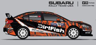 A sneak preview of the Dirtfish Subaru of David Higgins for GRC Seattle