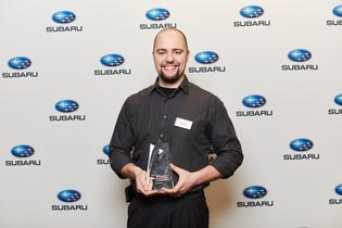 The winner of the 2019 Subaru National Technician Competition, David Jodat, a Senior Master Technician at Subaru City of Milwaukee in Milwaukee, WI.