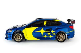 The 2019 Subaru Motorsports livery references the success of the Subaru World Rally Team with a modern design update.