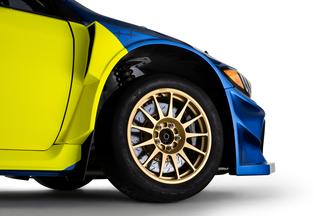 The combination of blue and gold is a signature Subaru design element, established by international rally success in the 1990's and 2000's.