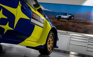 The iconic Subaru blue and gold livery was made famous in part by Oliver Solberg's father Petter, who won the 2003 World Rally Championship with Subaru.