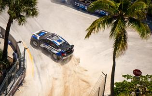 The #11 Subaru WRX STI at Fort Lauderdale GRC