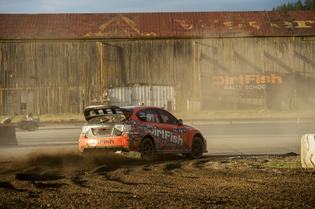 Subaru Rally Champion David Higgins during the Seattle GRC event at Dirtfish