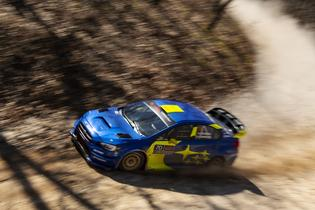 Oliver Solberg drove to an impressive 2nd place overall finish at the 2019 Rally in the 100 Acre Wood. Photo credit: Ben Haulenbeek / Subaru Motorsports USA