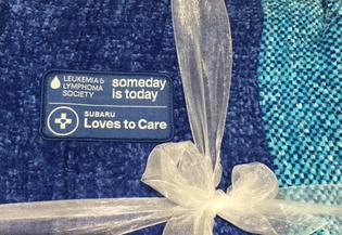 Subaru of America and The Leukemia & Lymphoma Society are collaborating to send well wishes and blankets to patients fighting cancer in communities across the country this June, Subaru Loves to Care month.