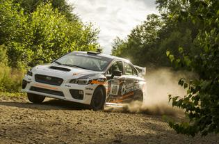 Bucky Lasek maintained a smooth and consistent pace to nab a podium spot at New England Forest Rally