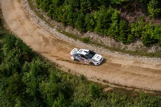 Bucky Lasek navigates the rough and technical stages of New England Forest Rally