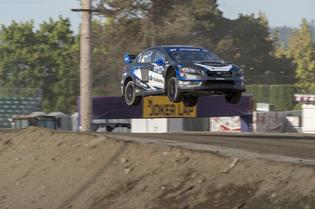 Chris Atkinson flies his Subaru at GRC Seattle