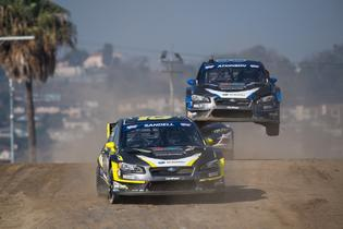 Chris Atkinson follows Patrik Sandell over the jump at GRC.