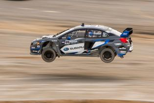 Chris Atkinson going flat out over the GRC Memphis dirt jump.