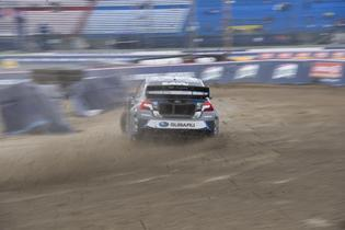 Chris Atkinson pitches his 600hp Subaru STI sideways at GRC Seattle