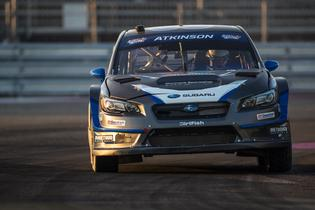 Chris Atkinson racing hard at GRC.