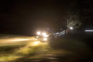 David Higgins extended his lead on the night stages at LSPR-2016