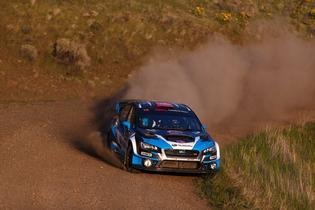 David Higgins and co-driver Craig Drew dominated the Oregon Trail Rally. Credit: Louis Yio / Subaru Rally Team USA