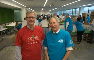 Subaru of America, Inc. President & CEO Tom Doll and Food Bank of South Jersey CEO Fred Wasiak lead Share the Love kick-off event at Subaru of America headquarters.