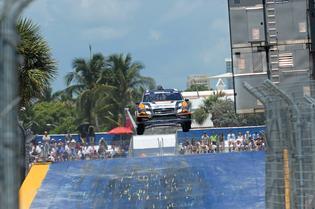 Bucky Lasek launches his #81 Subaru WRX STI