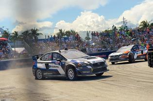 The 2015 Subaru WRX STI Rallycross platform at Fort Lauderdale GRC