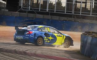 Joni Wiman turns into the track's tight first corner during free practice at ARX of COTA.