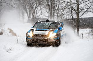 David Higgins and Craig Drew persevered over deteriorating conditions at Rally in the 100 Acre Wood.