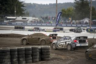 David Higgins and Chris Atkinson racing together at GRC Seattle