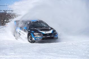 David Higgins and co-driver Craig Drew prepare for the season opening Rally Perce_Neige in Canada