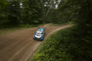 David Higgins and codriver Craig Drew finished 2nd Overall at the Ojibwe Forests Rally