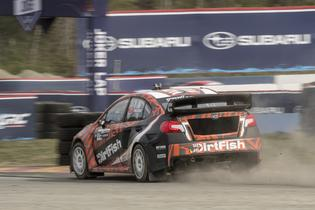 David Higgins in the 75 DirtFish Subaru STI