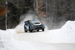 David Higgins took victory at Rallye Perce Neige 2017