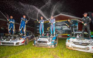 Higgins and Drew on top of an all Subaru podium at STPR
