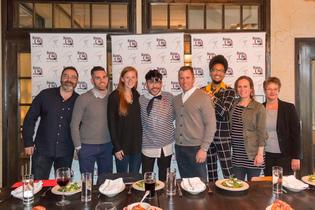 2017 Dining Out For Life Host Dinner in Minneapolis at 4Bells with Spokesperson Mondo Guerra (middle).