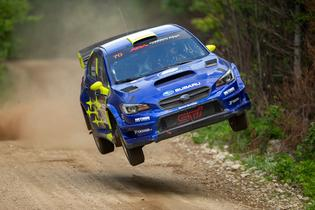 Solberg was right at home on the fast, challenging roads – and big jumps – of Maine and New Hampshire.