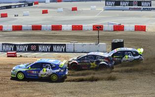 2013 Subaru WRX STI Rallycross car