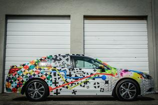 Mondo Guerra's wrapped 2015 Subaru Legacy as part of the auto manufacturer's Love Responsibly campaign. Credit: Nick D'Amico and Dana Slifer.