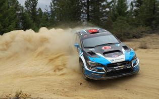 David Higgins and codriver Craig Drew earned 2nd Overall at the Idaho RallyPhoto Credit: Matthew Stryker / Subaru Rally Team USA