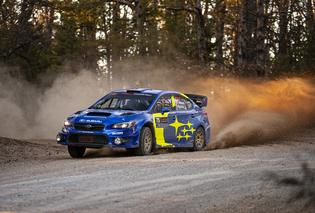 David Higgins and co-driver Craig Drew dominated much of the 2019 Rally in the 100 Acre Wood before a late setback forced them to settle for 3rd overall. Photo credit: Matthew Stryker / Subaru Motorsports USA