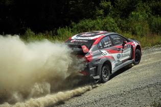 Travis Pastrana and Robbie Durant finished 3rd Overall at the New England Forest Rally
