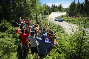 David Higgins and co-driver Craig Drew dominated the New England Forest Rally