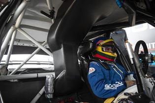 Jacques Villeneuve finalizes the setup of his 2018 WRX STI Rallycross supercar with Subaru Rally Team USA.