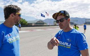 Subaru rallycross driver Scott Speed currently leads the ARX championship and will be seeking the top spot on the Nitro podium.