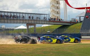 Bakkerud and Wiman showed strong pace in the WRX STI rallycross car, and will look to build on their experience at the season-ending round at Mid-Ohio Sports Car Course next weekend