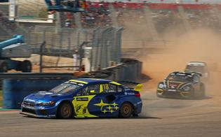 Subaru driver Patrik Sandell earned a second-place finish at Saturday's Americas Rallycross (ARX) Round 5 at Circuit of the Americas in Austin, Texas.