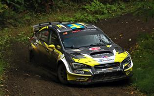 Patrik Sandell and co-driver Per Almkvist were victorious at the 2018 Tour de Forest Rally. Credit:  Matthew Stryker / Subaru Rally Team  USA