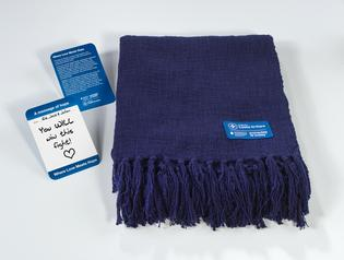 Subaru visitors can share personalized messages of hope to cancer patients in their communities, which will be delivered alongside blankets that provide comfort and warmth.