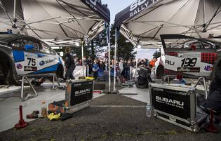 Oregon Trail Rally service area at Portland International Raceway
